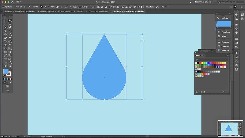 Fast Easy Waterdrop Illustrator Step 3