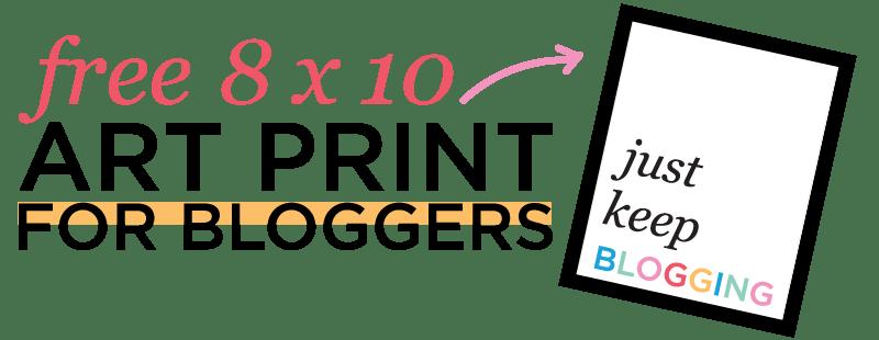 "Free Blogger ""Just Keep Blogging"" Art Print Download"