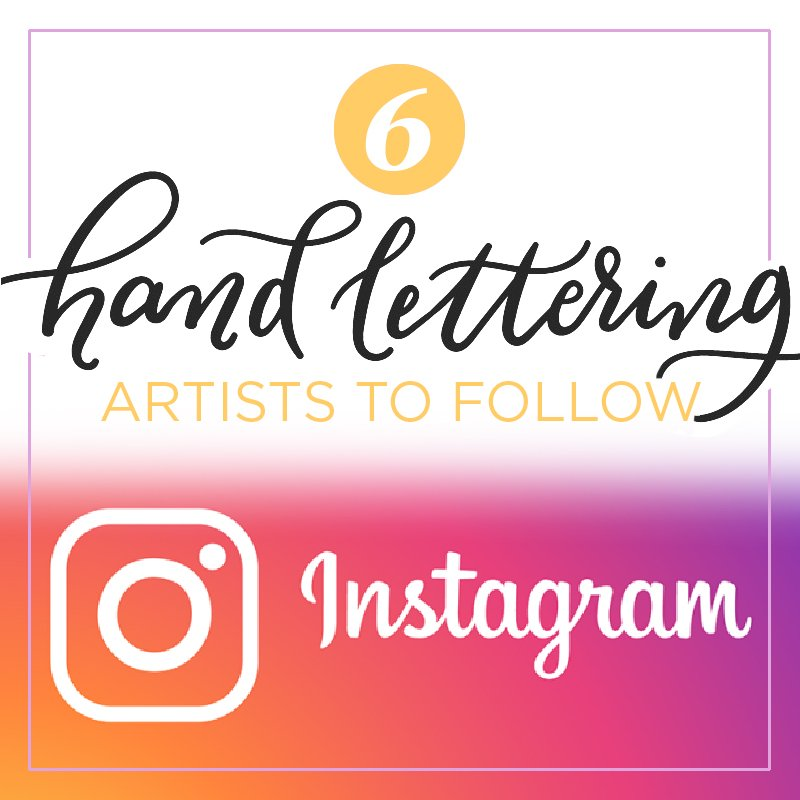 hand lettering accounts on instagram