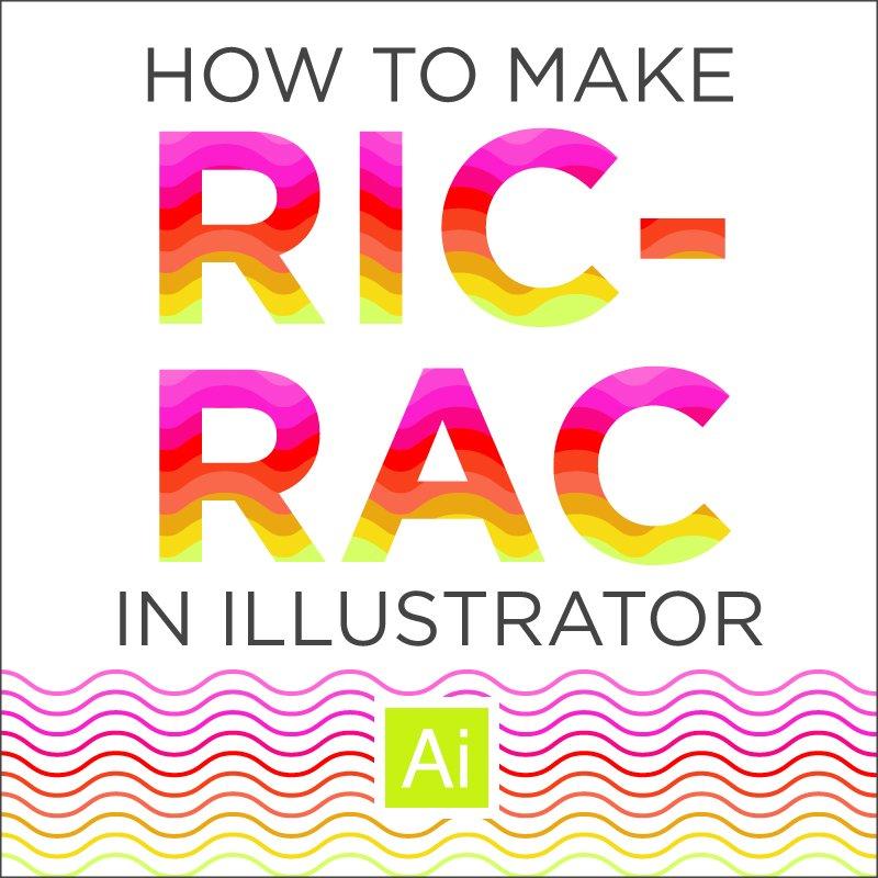 Ric Rac Illustrator Easy Tutorial to make Wavy Lines