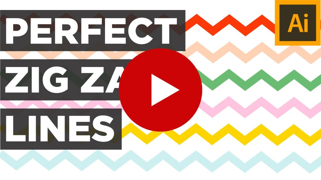 Zig Zag Lines Tutorial on Youtube