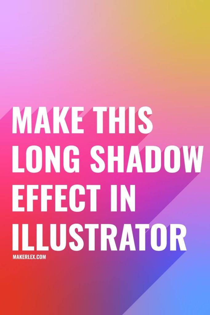 Long Shadow Effect - Text - Illustrator Tutorial