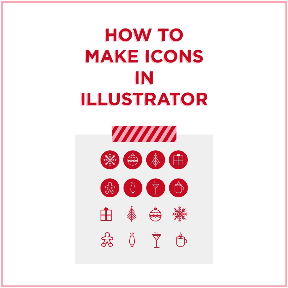 How to Make Icons in Illustrator Holiday