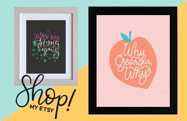Shop Wondernote Handlettered Art Prints on Etsy