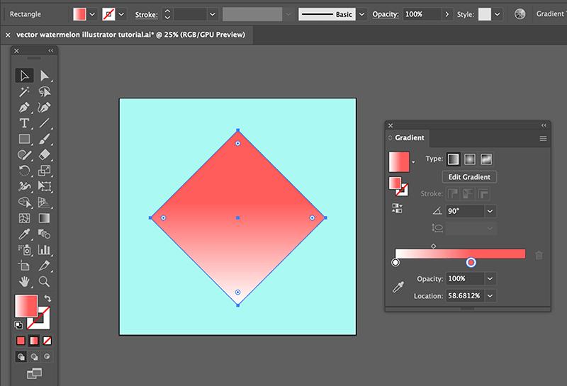 step 1 watermelon vector illustration