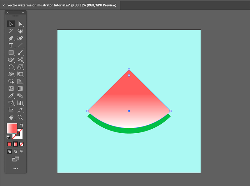 step 4 watermelon vector illustration