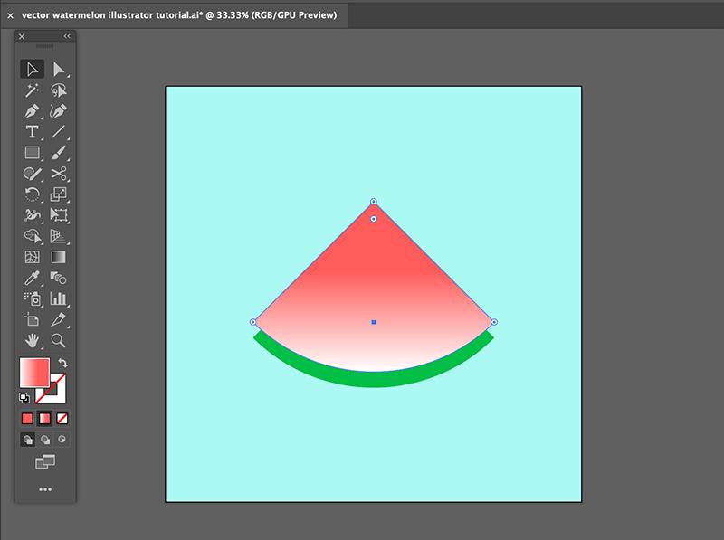 step 4 watermelon vector illustration