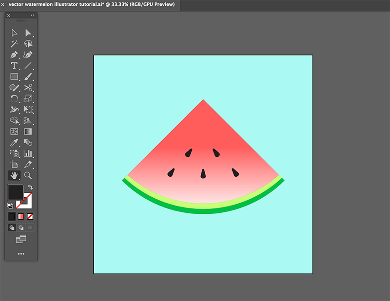 step 8 watermelon vector illustration