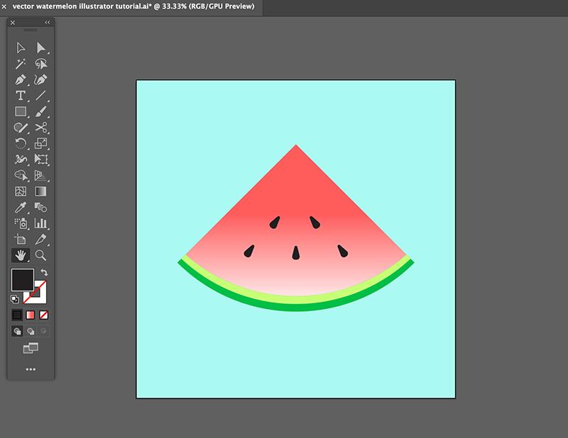 step 8 watermelon vector illustration
