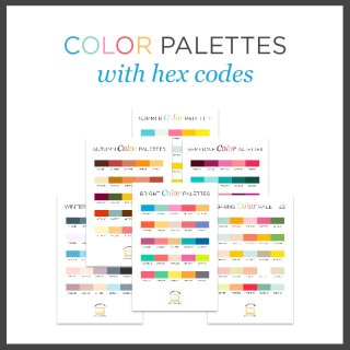 color palettes with hex codes for blog design