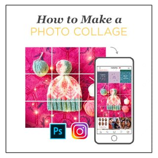 cut up photo collage tutorial how to for instagram with photoshop slice tool