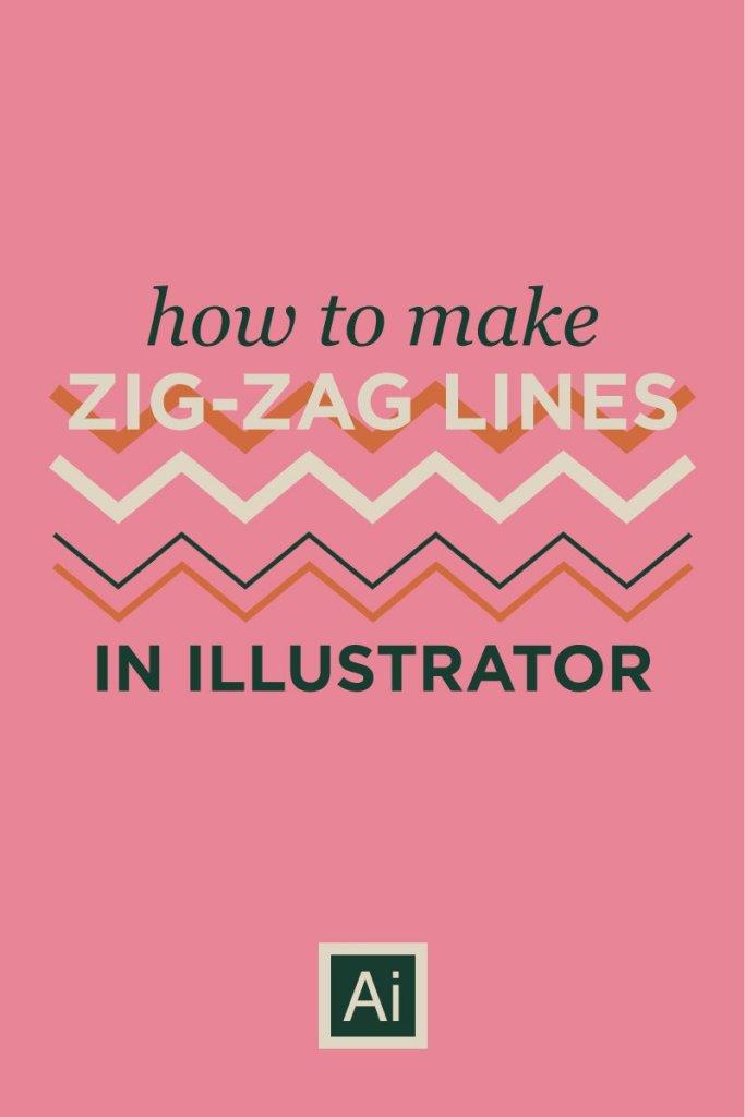 Easy zig zag lines illustrator