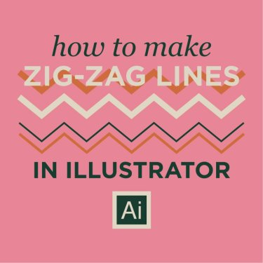 Easy Zig Zag Lines Illustrator Tutorial