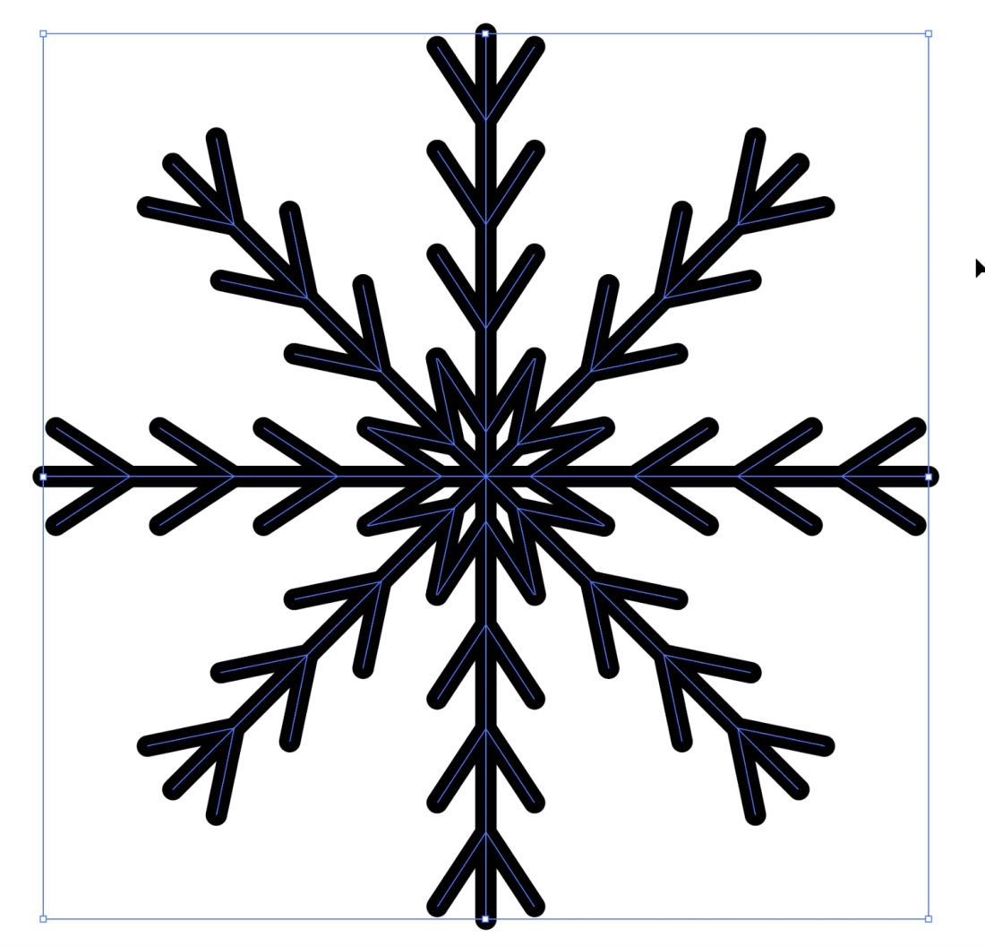 step 7 snowflake icon in illustrator