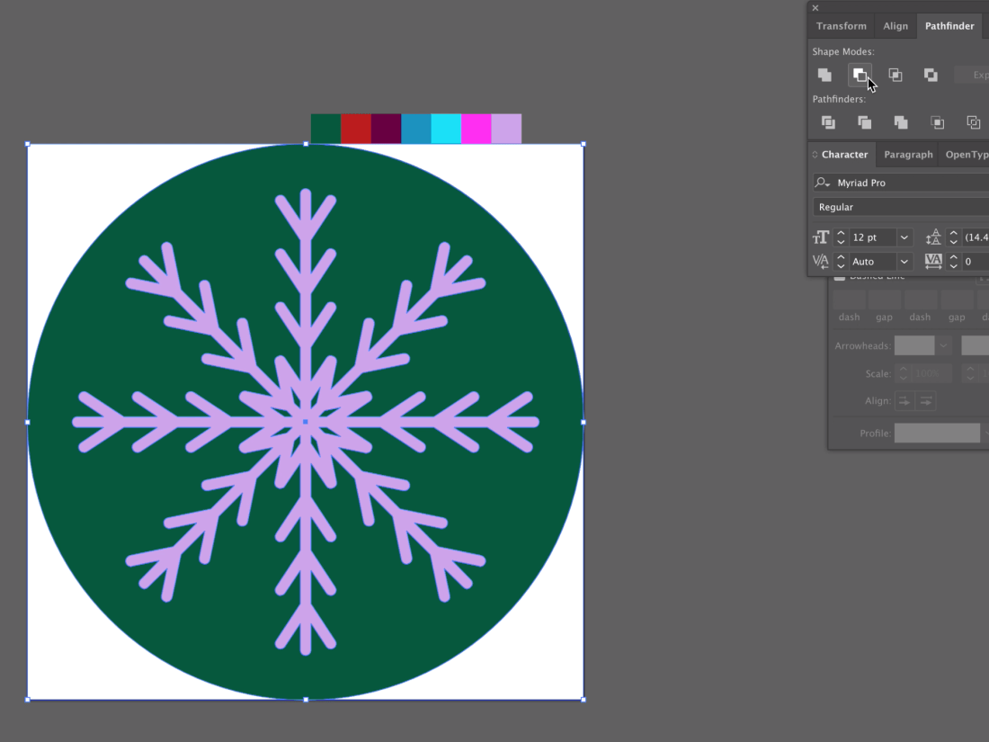 make an icon in illustrator step 9