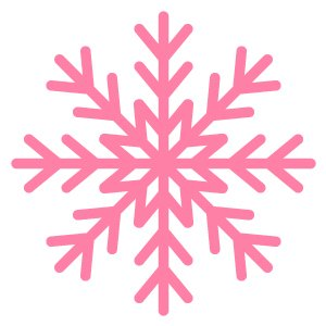 Pink Snowflake Illustrator Icon Tutorial