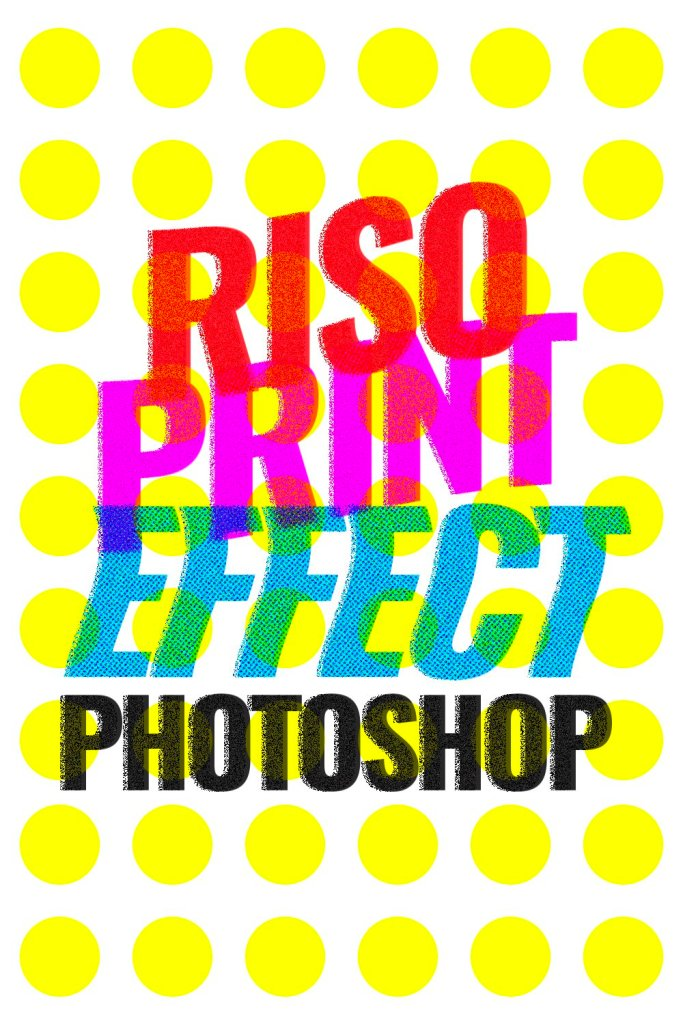 riso print effect photoshop makerlex