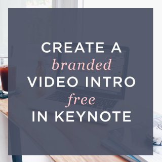 make your own video intro for your brand or youtube channel easy and free with keynote
