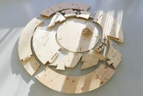 CNC Plywood cut pieces for Garden Grow Room