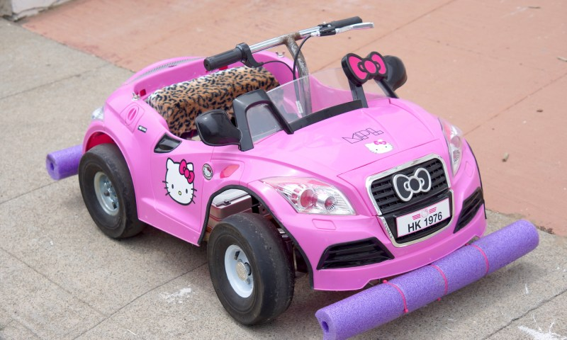 Kitty Grabs Back Electric Go Kart