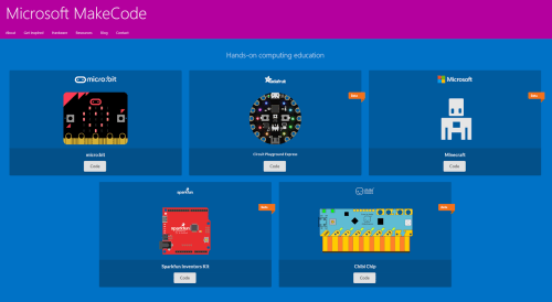 Microsoft MakeCode screenshot