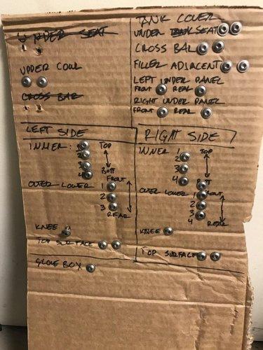 Michael Colombo's cardboard screw keeper