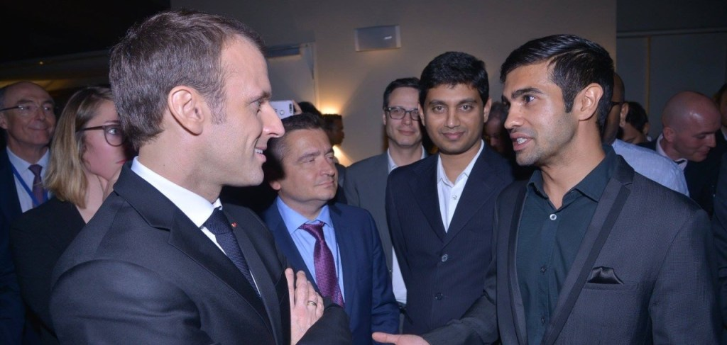 French President Macron named Vaibhav Chhabra, co-founder of Maker's Asylum, a Young-Leader India-France in 2018