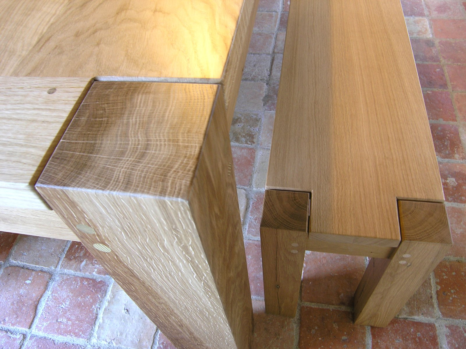 Contemporary Bespoke Dining Table Handmade Oak Kitchen