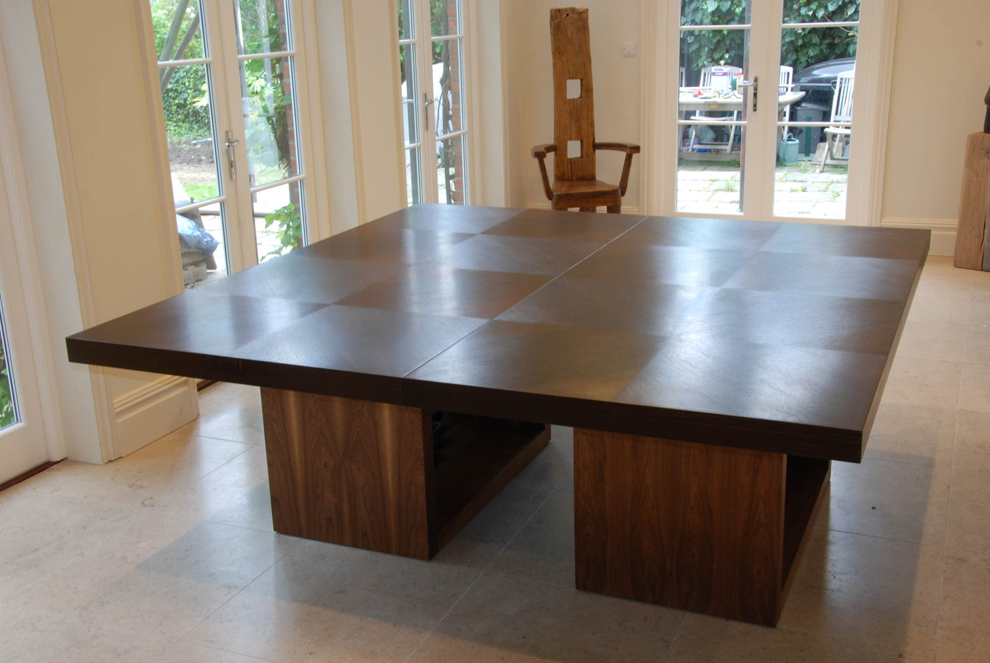 Dining Table In Wenge & Walnut