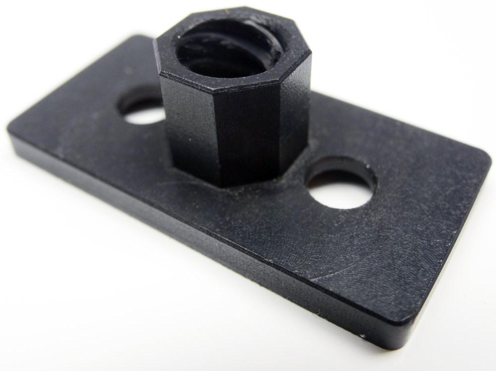 medium resolution of v slot acme nut plate