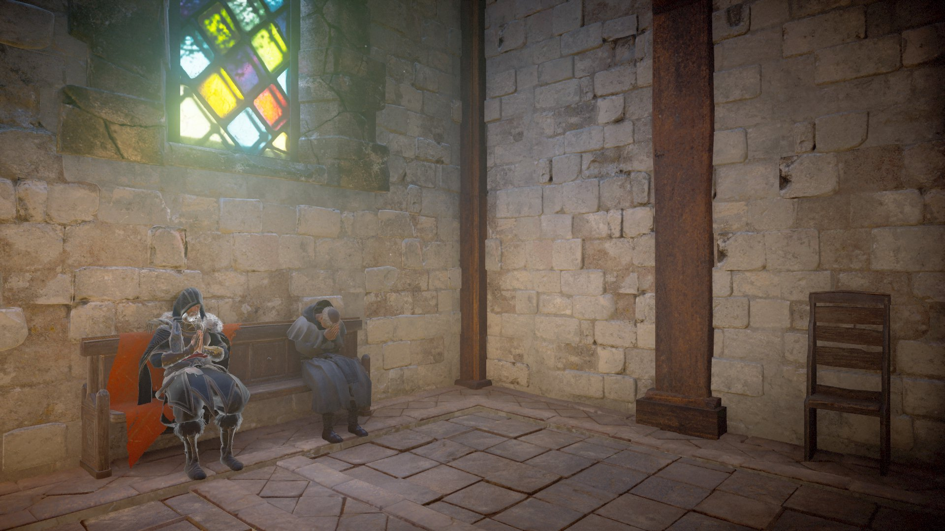 Praying at the Canterbury Cathedral. Deep Space using Two-Point Perspective (Block, 18-21)