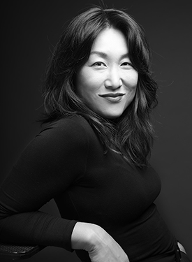 Black and White Photo of Hannah Sung
