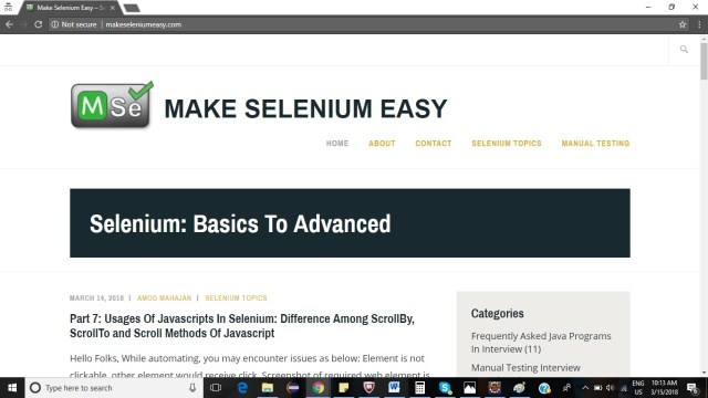 Error Executing Javascript Selenium