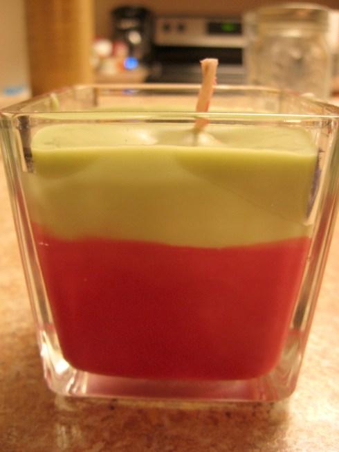 DIY layered candle