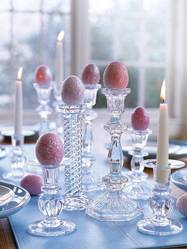 glittery easter eggs!