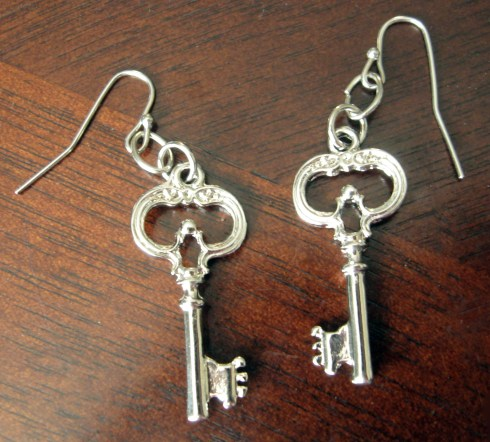Key Shaped Earrings via The Artsy Parts $10.00