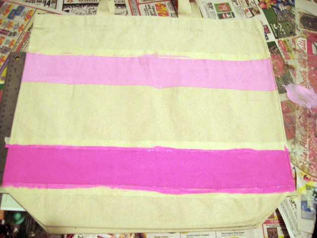 step 2 to your ombre tote bag