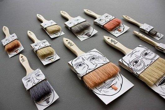 Paint brush design package