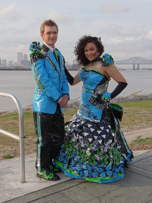 matching duct tape prom dress and tux