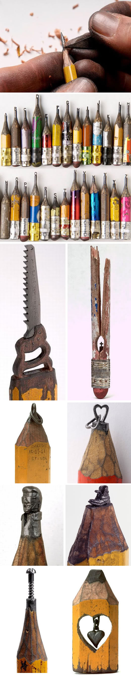 Pencil sculptures by Dalton Ghetti