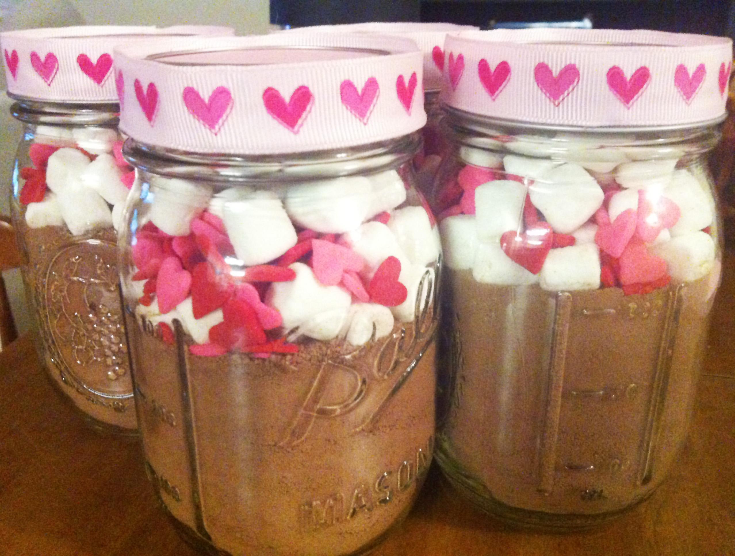 Diy Valentine S Day Themed Mason Jar Hot Chocolate Gift Make Something Mondays
