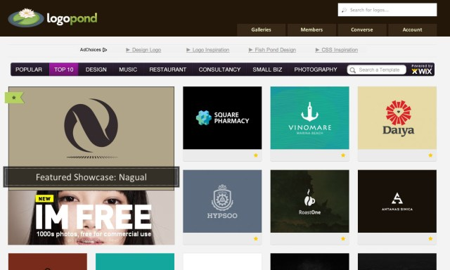 LogoPond for logo design inspiration
