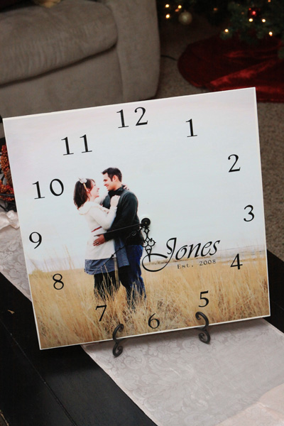 Personalized family clock