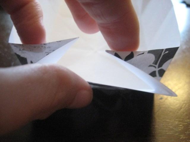 fold in side of paper