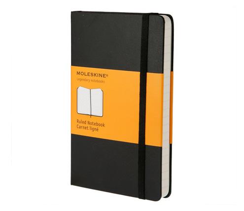 hardback moleskin notebook
