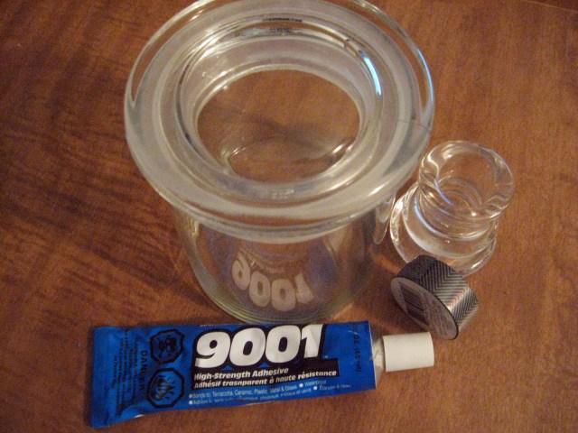 DIY Washi Tape candy jar materials