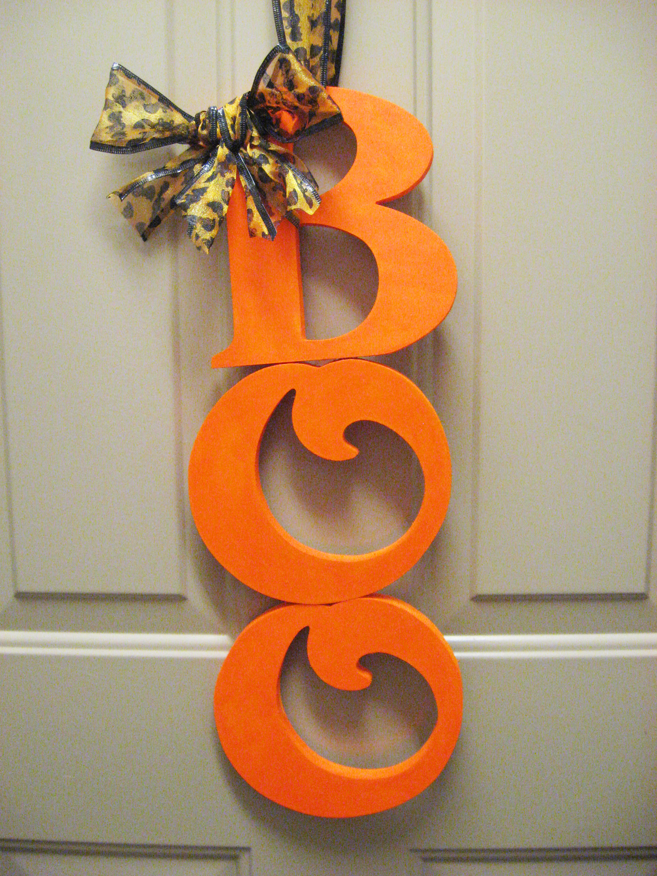 DIY Halloween Door Decor