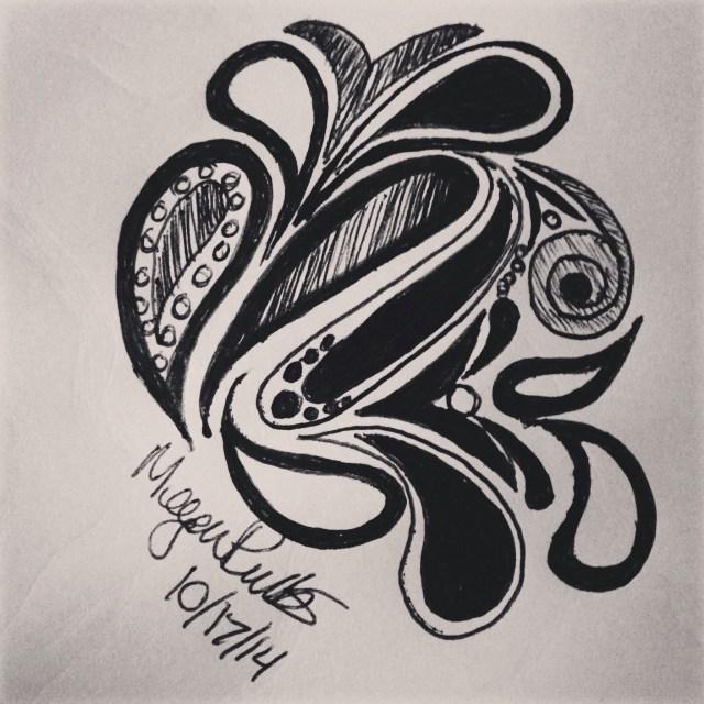 random ink doodle