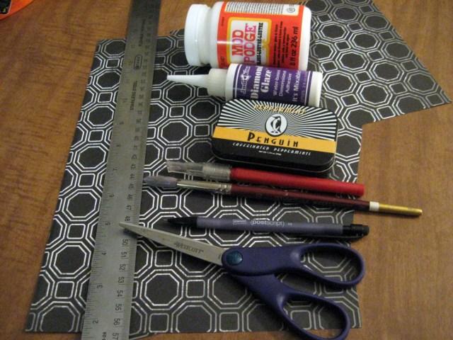 DIY jewelry box materials