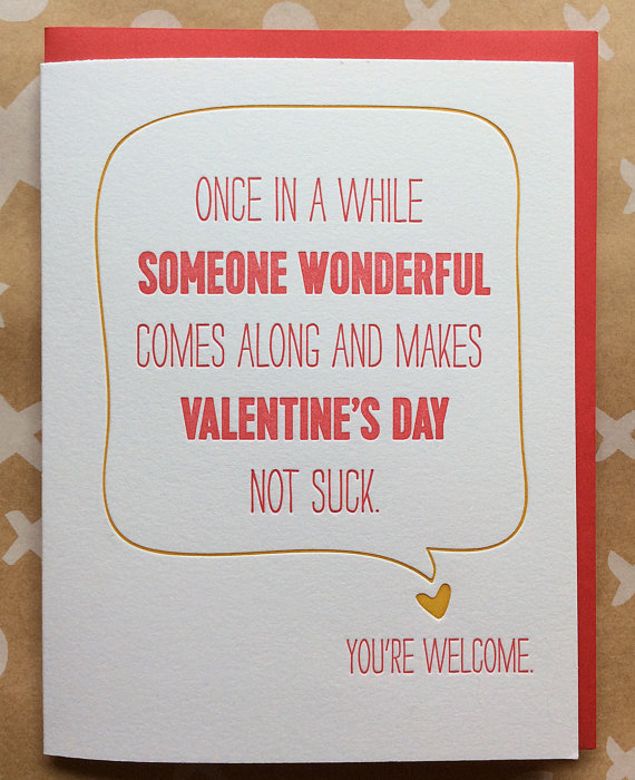 Make Valentine's Day not suck card